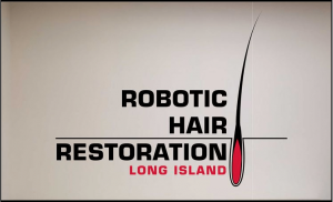 Robotic Hair Restoration Long Island Entrance Sign