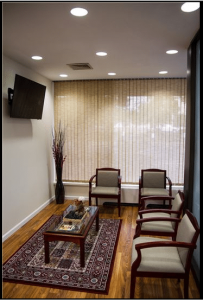 RHRLI's office waiting room area.