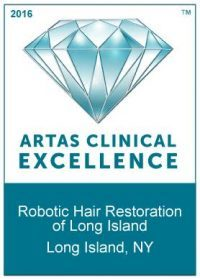 ARTAS Award For Clinical Excellence Robotic Hair Restoration of Long Island, NY