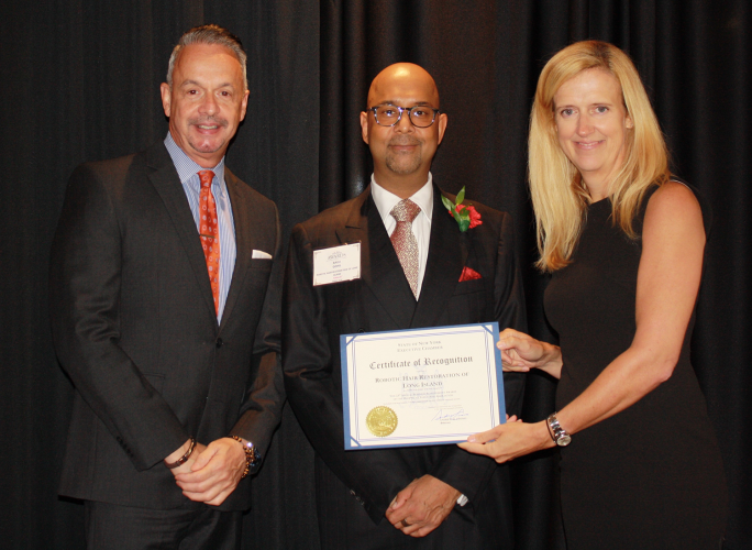 certificate of recognition from HIA-LI awards ceremony at the Crest Hollow Country Club