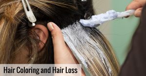 Can coloring hair lead to hair loss?