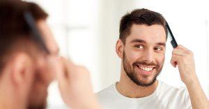 Natural looking hairstyles after hair transplantation.