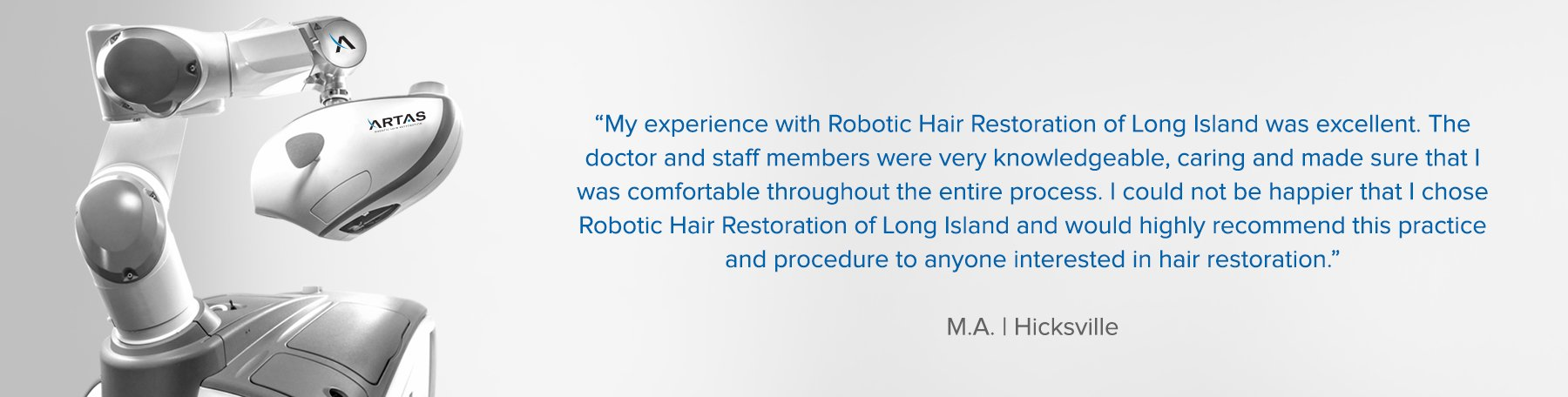 Robotic Hair Restoration Artas Long Island